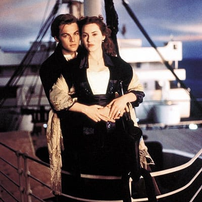 "RMS Titanic became one of the most famous ships in history, her memory kept alive by numerous books, folk songs, films, exhibits, and memorials. Leonardo DiCaprio and Kate Winslet will forever be remembered for this scene from James Cameron's 1997 film ""Titanic""."