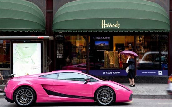 You're more likely to see a pink super car than a bridge in Knightsbridge
