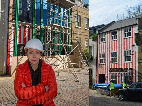 Wally of the Week – Zipporah Lisle-Mainwaring – 19 South End, Kensington, London, W8 5BU – Red and white striped house – Planning dispute