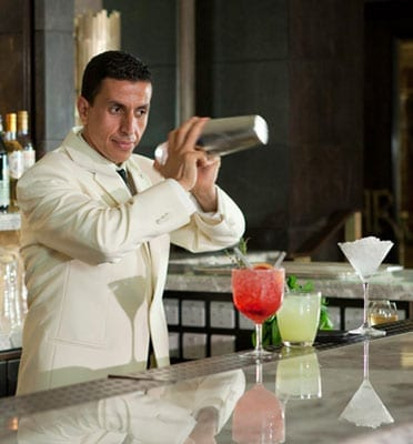 The Rib Room team are famed for their legendary cocktail making skills