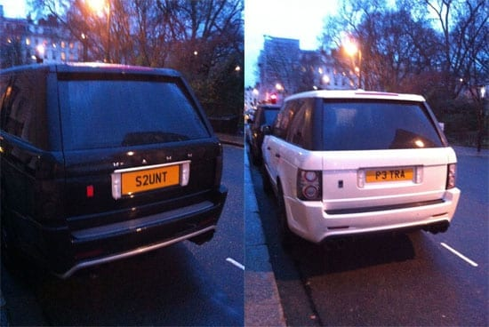 """""""His and hers"""" plates are becoming increasingly common sights in Kensington, Chelsea, Knightsbridge and Belgravia"""