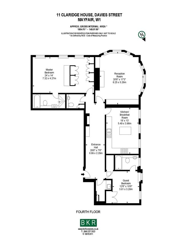 A floor plan of the apartment