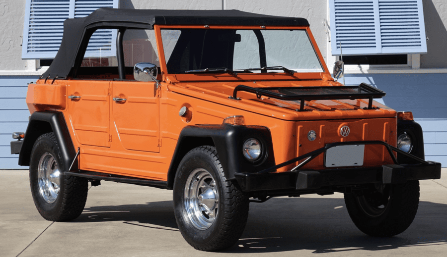 A Landy or a Thing? RM Sotheby's Palm Beach auction goes online – Nine seat, thirty year old 1990 Land Rover 110 Defender for sale for staggering sum; a cheaper alternative at RM Sotheby's auction (forced online because of coronavirus) is a 1974 Volkswagen 181 'Thing' – 20th to 28th March 2020 in Florida.