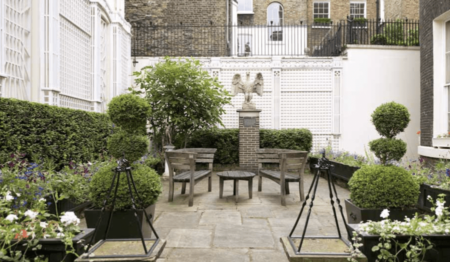 "A Set fit for a Peacock – £925,000 for Albany 'set' of Christopher Gibbs – Unmodernised 'set' in ""rule-ridden"" Albany, Piccadilly that was the London home of eccentric antiques dealer and 'King of Chelsea' Christopher Gibbs for sale – £925,000 for L6 Albany, Albany Courtyard, Piccadilly, Mayfair, London, W1J 0AZ, United Kingdom through GreenHunt."