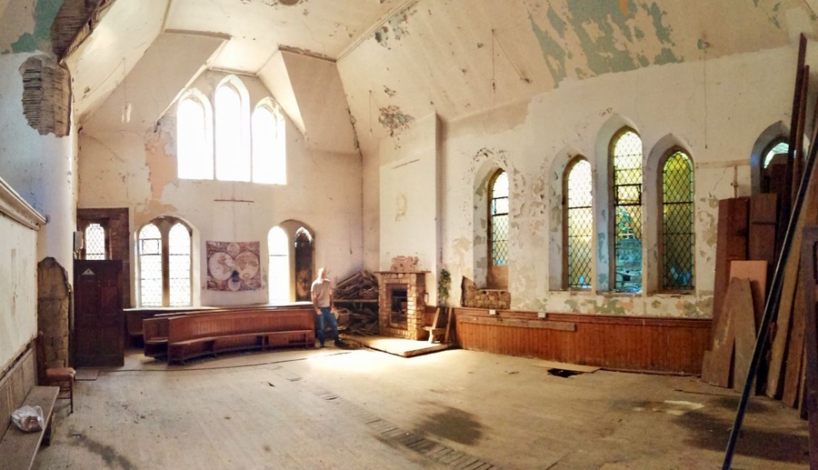 Not Such Divine Intervention – £130,000 for North Trinity Church, East Bowmont Street, Kelso, Roxboroughshire, Scotland, TD5 7JH, United Kingdom through agents Ballantynes – Empty Gothic church in Kelso, Scotland for sale for just £130,000; it was home until 2006 to the conspiracy theorist Dean Warwick (1944 – 7th October 2006) – who collapsed and died on stage at the Probe International paranormal and UFO conference in Blackpool mid speech.