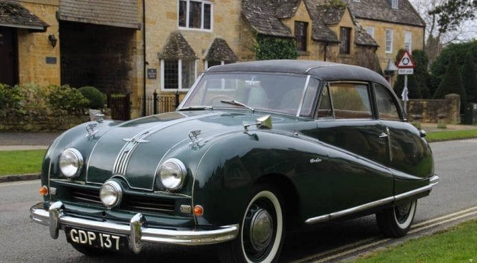 An Economical Plate – 1952 Austin A90 Atlantic saloon – To be auctioned at the Classic Car Auctions, Practical Classics Car & Restoration Show sale at The National Exhibition Centre in Birmingham on 1st April 2017 – Estimate of £8,500 to £10,500 ($10,300 to $12,800, €9,700 to €12,000 or درهم 38,000 to درهم 46,900)