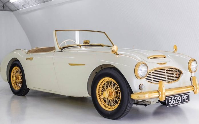The World's Most Flirtatious Car – 1958 Austin-Healey 100-Six 'Goldie' to be sold at auction by RM Sotheby's in New York with no reserve and an estimate of £265,000 to £417,000 ($350,000 to $550,000, €300,000 to €471,000 or درهم1.3 million to درهم2 million on 6th December 2017