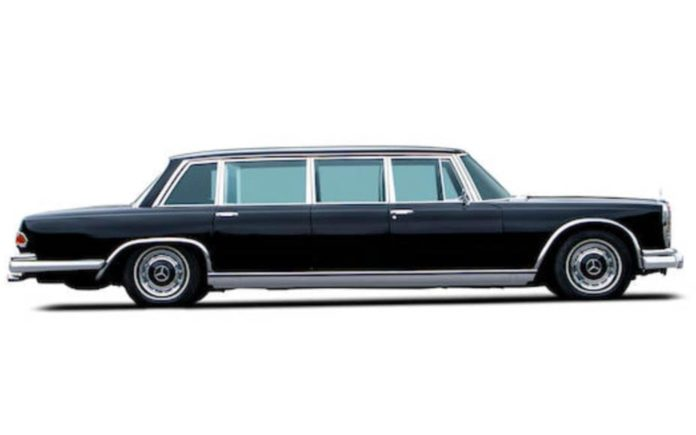 "A Grand Grosser – 1965 Mercedes-Benz 600 Pullman for sale – ""As good as new"" 1965 Mercedes-Benz 600 Pullman ""dictator car"" to be sold at auction in London by Bonhams. They offer the limousine at their 7th December 2019 sale at their New Bond Street showroom and have set an estimate of £300,000 to £500,000 ($388,000 to $646,000, €352,000 to €586,000 or درهم1.4 million to درهم2.4 million)."
