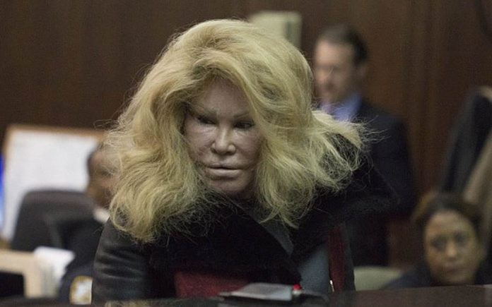 A Catty Catastrophe – Feline-like Bride of Wildenstein Jocelyn Wildenstein and couturier Lloyd Klein – Fight at Trump World Tower, Wednesday 7th December 2016 - Delony assault charges in the second degree – She is accused of inflicting injuries with a weapon