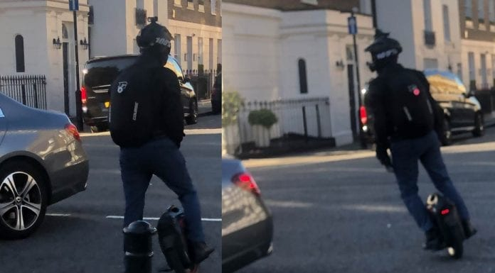 NAME & SHAME – A Wheel Pest – Dangerous single wheeled contraption spotted in Belgravia; like electric scooters it is illegal and should be banished from our streets.