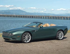 One for one hundred – 2013 Aston Martin Centennial DB9 Spyder concept by Zagato – Designed by Norihiko Harada for Aston Martin collector Peter Read – For sale at RM Auctions, Monterey sale, 15th August 2015 with a guide of £246,000 – £290,000 ($380,000 – $450,000, €346,000 – €410,000)