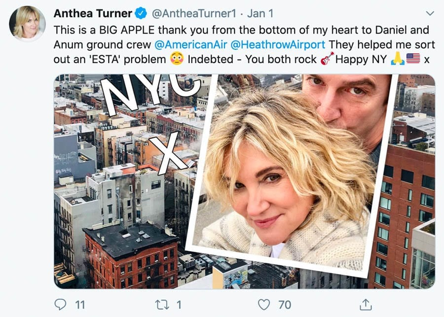 Angry Anth' – Anthea Turner swings into action to resolve a row with her magic mushroom loving fiancé Mark Armstrong at Heathrow Airport.