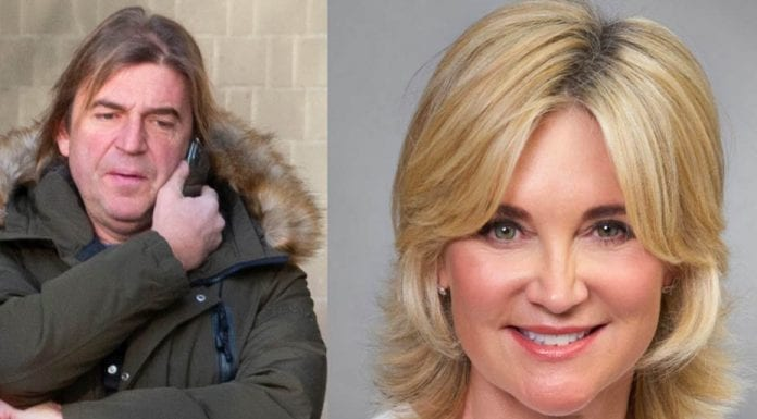 "Guttered Anthea – Anthea Turner's fiancé spotted picking up litter – Anthea Turner's convicted offender fiancé Mark Armstrong spotted ""trawling roads"" doing community service after biting a policeman."