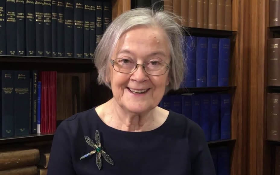 "Hero of the Hour – Baroness Hale shows her wit and humour – Lady Hale shows humour in mocking her name because she read about a woman called Brenda ""and she was an absolute bitch."""