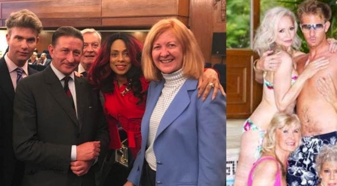 """Victoria's Escort – Lady Borwick hangs out with Benjamin Duncan – Wannabe politician (again) Lady Borwick shares a snap of herself with a onetime male escort to """"mature ladies"""" Benjamin Duncan."""