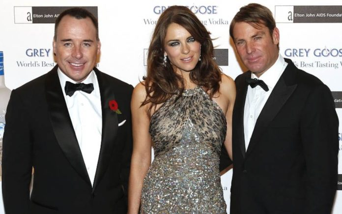 "Bored of Black Tie, Crushed by 'The Club' – Death of Black Tie Balls – As black tie bonanzas deservedly take a bashing, we ask: ""What's next for Britain and America's party paraders?"" – Sir Elton John and David Furnish, Elizabeth Hurley, Tamara Ecclestone, Jay Rutland, Dawn Ward, Ashley Ward, Elliott Spencer, Stephen Fry, Alexa Chung, Esther Rantzen, Anthea Turner, Grant Bovey"