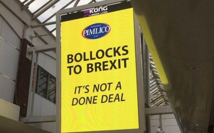 Bollocks to Brexit – Take Two – Matthew Steeples salutes Charlie Mullins and Pimlico Plumbers for continuing to say Bollocks to Brexit as Lambeth council attempt to force him to take his protest sign down