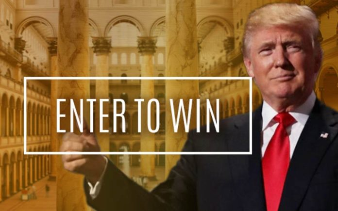 Dine With Donald – Win dinner with Donald Trump – Matthew Steeples suggests readers reject Donald Trump's desperate plugs for an opportunity to win dinner with his own very sorry self
