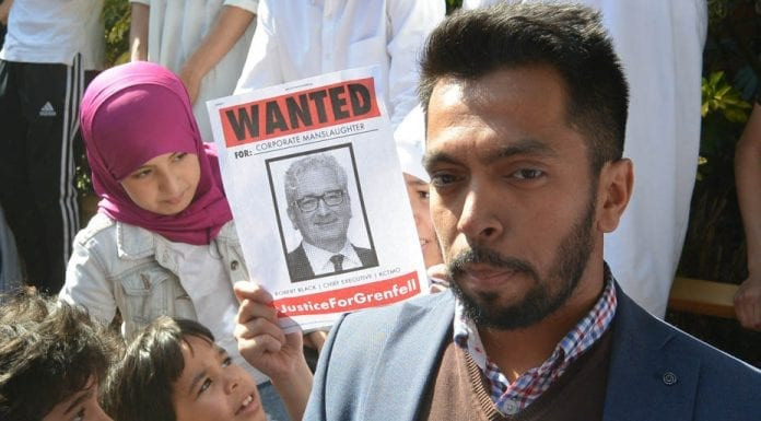 Grenfell Matters – Grenfell Tower tragedy Kensington Town Hall protest, Friday 16th June 2017 – Organised by Mustafa al-Mansur