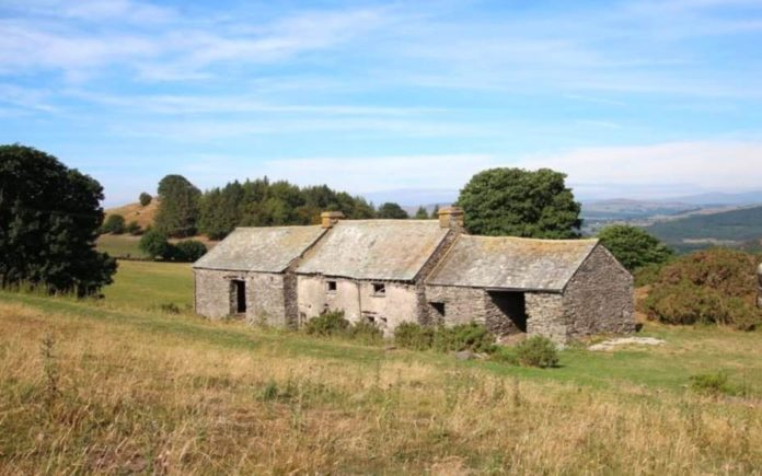 A Pricey Doer-Upper – Derelict Uncle Monty-esque farmhouse in the countryside of the Lake District National Park World Heritage Site for sale for a staggering sum – Hard Crag, High Brow Edge, Backbarrow, Ulverston, Cumbria, LA12 8QY, United Kingdom – For sale for £795,000 ($1 million, €889,000 or درهم3.8 million) through Michael C. L. Hodgson