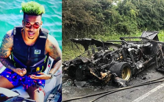 "A Not So Jolly Green Giant – Footballer Jamal Blackman and James Stunt – Footballer Jamal revealed as the ""black man with dyed green hair"" who falsely claimed to be the owner of James Stunt's now burnt out Lamborghini."