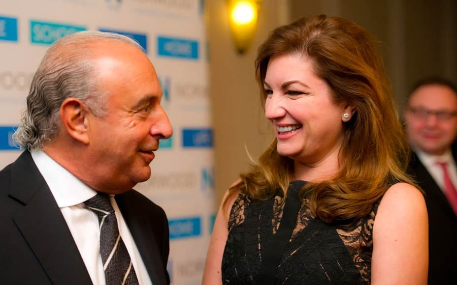 Lazy Brady's U-Turn – Karren Brady does a U-turn on Sir Philip Green – Muckspreader Lady Brady does a U-turn about alleged abuser Sir Philip Green (but then admits she's often still on the blower to him).