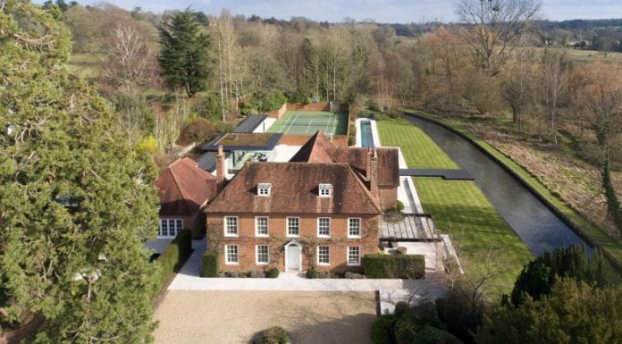 "Worthy Water – 18th century house in a ""fairytale"" setting beside the famous River Itchen chalkstream is not quite what one would expect – Lower Chilland House, Martyr Worthy, Winchester, Hampshire, SO21 1EB – For sale through Savills, priced at £7.5 million ($9.7 million, €8.7 million or درهم35.8 million)"