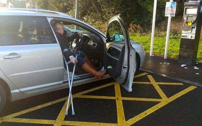 Wally of the Week – Margaret Gallagher – Meet a woman with a broken leg who thinks she can park wherever she wants; strangely she can get on her tight jeans and boots – Daily Mail, 15th December 2016