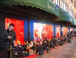 Picture of the Week: It's a material world - Harrods Winter Sale