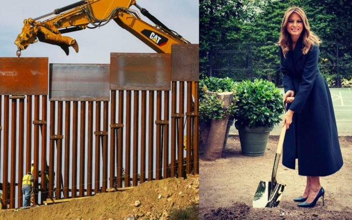 A Trump Hole – Why was Melania Trump digging holes at the White House? In sharing images of herself digging a hole yesterday, Melania Trump gave rise to theories about what she was really upto.