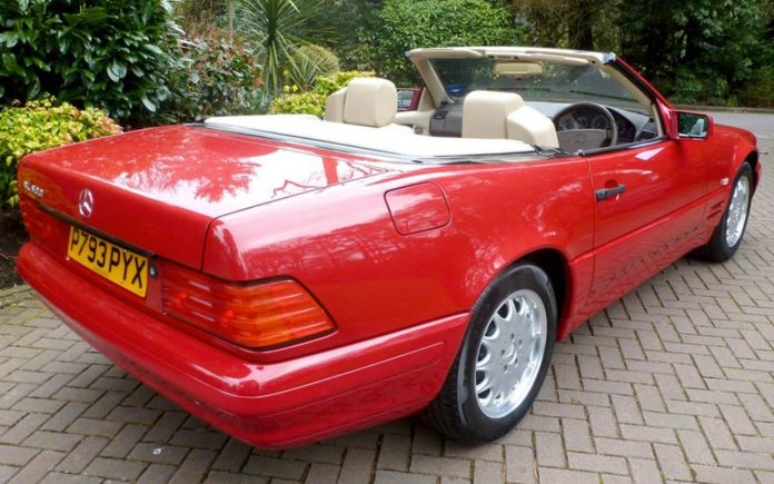 81 Miles From New – 1996 Mercedes-Benz SL500 that has covered just 81 miles since new to be auctioned by Coys of Kensington at their Spring Classics 2017 sale on 12th April with an estimate of £45,000 to £55,000 ($56,000 to $68,000, €53,000 to €64,000 or درهم205,000 to درهم251,000)