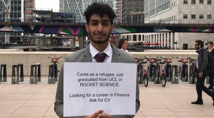 #GetMohamedAJob – Refugee Mohamed Elbarkey could not get a job; he did not give up and took enterprising action to try to get work.
