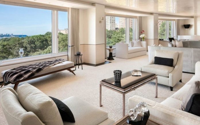 Panic Over The Price – Vast New York triplex with three bullet-proof panic rooms at The Heritage at Trump Place reduced in price by 47%; Is the Trump connection a factor? 240 Riverside Boulevard #6A Upper West Side, New York, NY 10069, United States of America – Owned by Prince Nawaf bin Sultan bin Abdulaziz Al-Saud – For sale through Elizabeth Mercedes Berk of Mercedes/Berk at a price of £32.9 million ($40 million, €37.9 million or درهم147 million), reduced from £61.7 million ($75 million, €71 million or درهم275.5 million)