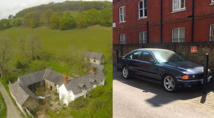 Parking or a Farm? £175,000 for a Welsh farm and for an SW7 parking space – Outdoor parking space in South Kensington for sale for the same price as a Welsh farmstead.