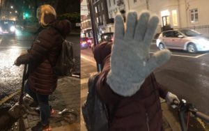 Name & Shame – Brazen in Belgravia – Abusive female E-scooter pest – Female E-scooter user abuses pedestrians in Belgravia after being told it is illegal for her device to be on both the pavement and the highway.