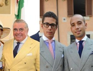 His Excellency Nunzio Alfredo D'Angieri and sons Stefan and Teava