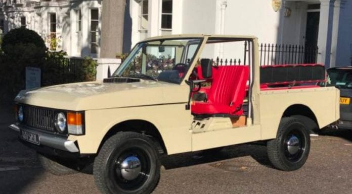 A Range Rover Goes Topless – Wacky 1972 Range Rover Classic Suffix 'A' convertible for sale for £97,500 ($137,000, €111,000 or درهم504,000) through Kensington dealer Graeme Hunt