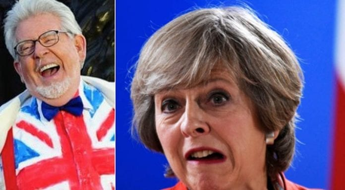 Canvassing Rolf – PM Theresa May and constituent Rolf Harris – Will Theresa May be calling on her paedophile constituent Rolf Harris during the 2017 General Election?