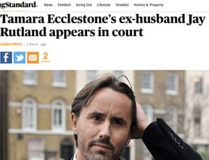 """Ex-ing Rutland – Tamara Ecclestone's husband Jay Rutland described as her """"ex-husband"""" by the Evening Standard – Do they know something the public doesn't?"""