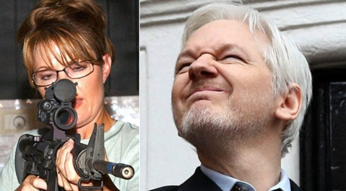 Unlikely Bedfellows – Sarah Palin apologises to Julian Assange – Sarah Palin's attempt to gain the support of Julian Assange shows that conventional politics have been consigned to history – January 2017