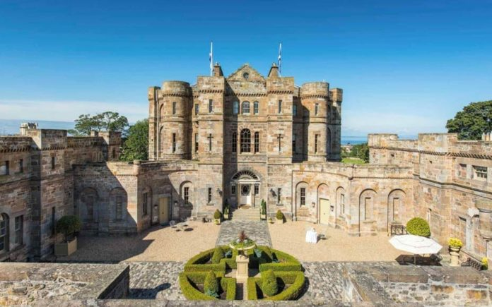 A Bigmouth's Castle – £8 million for Seton Castle, Longniddry, East Lothian, Scotland, EH32 0PG, United Kingdom – For sale through Rettie & Co. – Scotland's most expensive private residence for sale for 47% less than its 2005 asking price; it was designed by Robert Adam and is currently owned by self-made tech tycoons Stephen Leach and his wife Heather Luscombe.