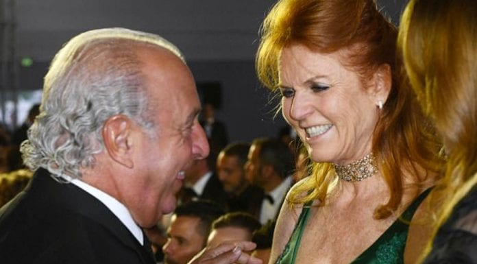 Shifty & Shiftier – 'Sir Shifty' Philip Green & Sarah, Duchess of York – In posing for pictures with 'Sir Shifty' Philip Green in Cannes, Sarah, Duchess of York showed herself to be nothing but shameless.
