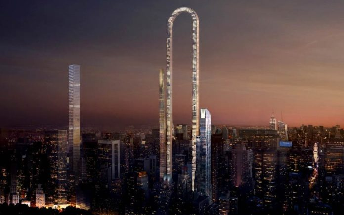 The Big Bend – U-shaped skyscraper by Oiio proposed in Manhattan – Billionaire living in New York might take a U-turn if a proposed skyscraper named the 'Big Bend' becomes reality