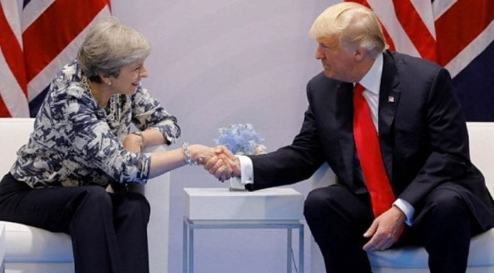 Donald's Duck – Weak and wobbly Theresa May becomes dastardly and dominant Donald Trump's (dead) duck at the G20 in Germany.