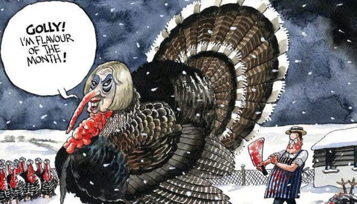 The May Turkey – Out-of-control Theresa May and People's Vote – Matthew Steeples suggests Theresa May has lost control and urges readers to support a People's Vote and the Put It To The People march.