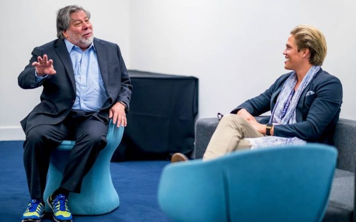 Viewing Velapp – Edit-as-you-shoot app for video footage – Apple co-founder Steve Wozniak pictured with Velapp founder David de Min