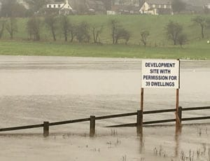 Picture of the Week: A field at Whalley Arches, Lancashire before and after flooding