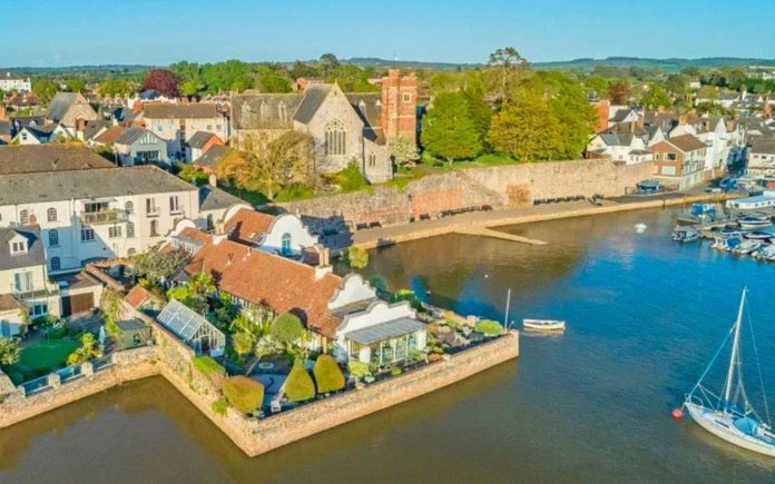 """Waterside Wixels – Stunning converted sail loft and """"local landmark"""" in """"the best position"""" in Topsham, Devon for sale for £3.5 million – £3.5 million for Wixels, Ferry Road, Topsham, Devon, EX3 0JH, United Kingdom through Knight Frank."""