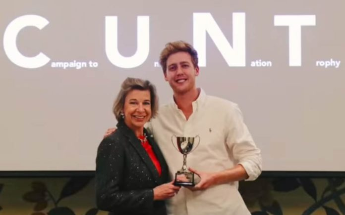 Video of the Week – Katie The C*NT – Katie Hopkins fooled – Now banned from Twitter media mouthpiece Katie Hopkins fooled into accepting an award that labels her a c*nt by YouTubers.