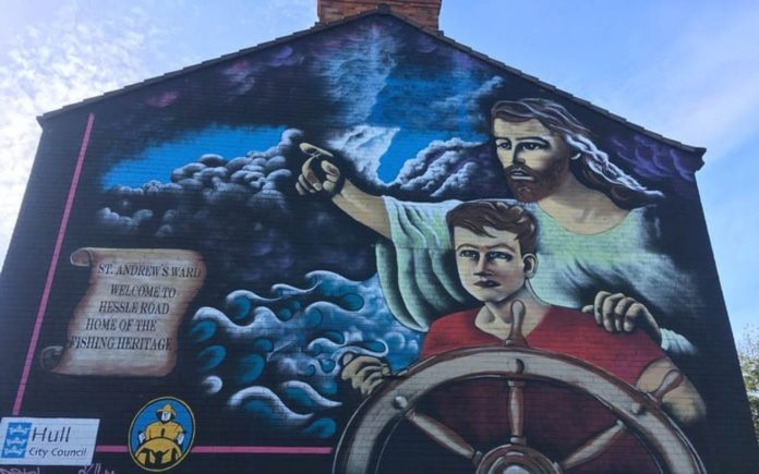 Raging Rose – Rose White rants about a mural in Hull – Hull woman complains to local newspaper about a mural that she believes features someone fondling Jesus's genitals.